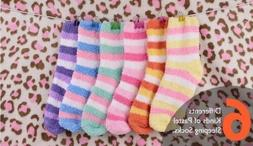12 Pair Stripes Soft Warm Fuzzy Sleeping Socks -