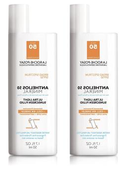 2 Pack La Roche Posay Anthelios 50 Mineral Ultra Light Sunsc
