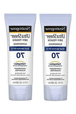 2 Pk. Neutrogena Ultra Sheer Dry-Touch Sunscreen SPF 70 3 oz