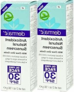 2 Derma e Sunscreen Body SPF 30 Exp 01/19 Antioxidant Natura