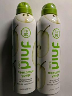2 x Hint Pear Sunscreen Spray SPF 30 Water-Resistant 6 oz EX