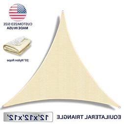 2nd Generation Custom Size Cut to Size Sun Shade Sail Triang