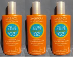 3 bottles l oreal advanced sunscreen silky