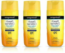 3 Pk Neutrogena Beach Defense Broad Spectrum Sunscreen Body
