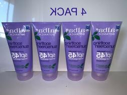 4 soothing sunscreen lavender spf 45 water