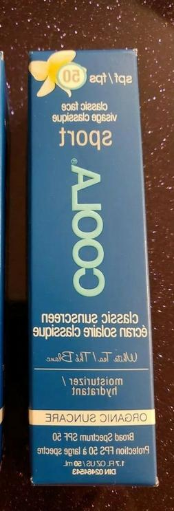 COOLA Sport Face SPF 50 White Tea Organic Sunscreen Lotion 1