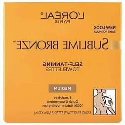 L'Oreal Paris Sublime Bronze Self-Tanning Body Towelettes, 6
