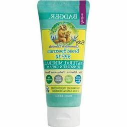 Badger Active Baby Sunscreen, SPF 30, Chamomile and Calendul