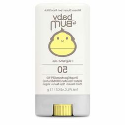 Sun Bum Baby Bum Mineral Sunscreen Face Stick SPF 50 - .45 o
