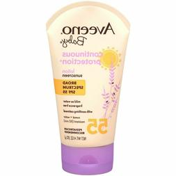 Aveeno Baby Continuous Protection Lotion Sunscreen  SPF 55 ~