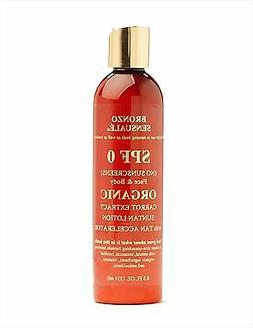 Bronzo Sensuale Organic Carrot Lotion for Tanning Beds or th