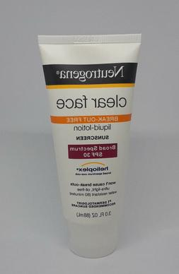 Neutrogena Clear Face Sunscreen SPF 30 3oz