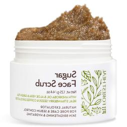 Face Sugar Scrub - Facial and Body Exfoliator for Cellulite