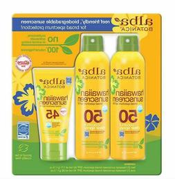 Alba Botanica Hawaiian Sunscreen 2.6 Oz Spray + 3 Oz Lotion