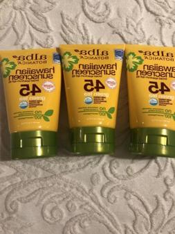 hawaiian sunscreen 45 3 tubes 4 oz