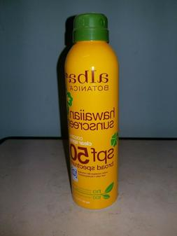 Alba Botanica Hawaiian Sunscreen SPF 50 Clear Coconut Spray