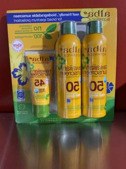 Alba Botanica Hawaiian Sunscreen Spray SPF50 6oz 2-pack + SP