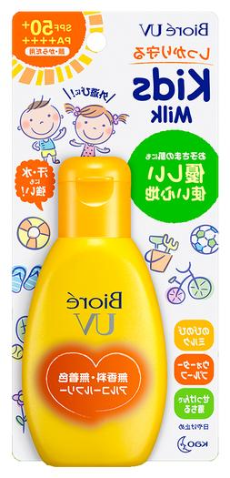🌻 Kao Biore UV Sunscreen Milk for Kids 90g SPF50+ PA++++