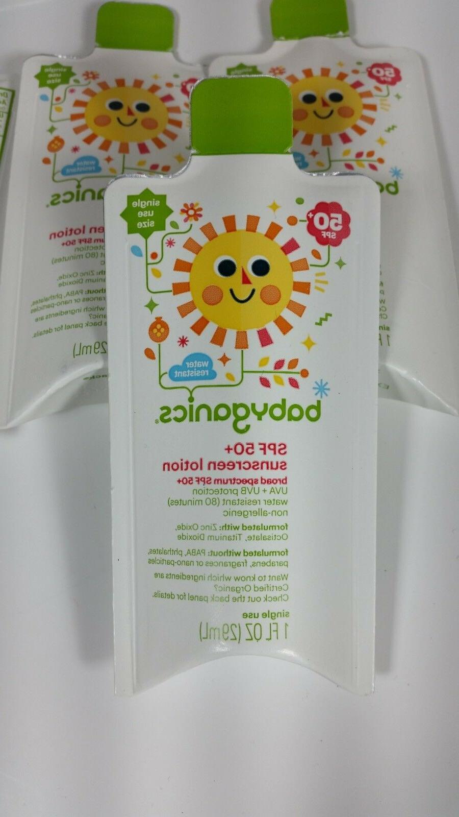 4pk spf 50 sunscreen lotion travel size
