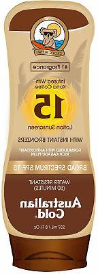 Australian Gold 8 oz. Sunscreen Lotion with Instant Bronzer