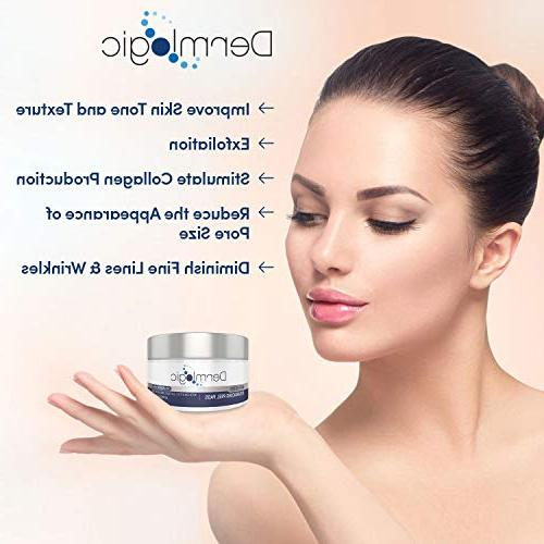 Anti Aging Resurfacing Pads Glycolic, Lactic Face Body Hyaluronic Acid, Witch Hazel, Green Dark