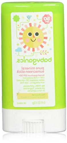 BabyGanics - Sunscreen Stick Pure Mineral Water Resistant Fr
