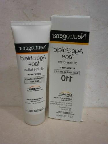 age shield face oil free lotion sunscreen