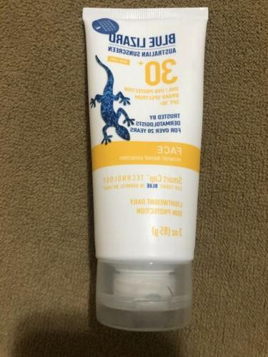 Blue Lizard Australian Sunscreen - Face Sunscreen SPF 30+ Br