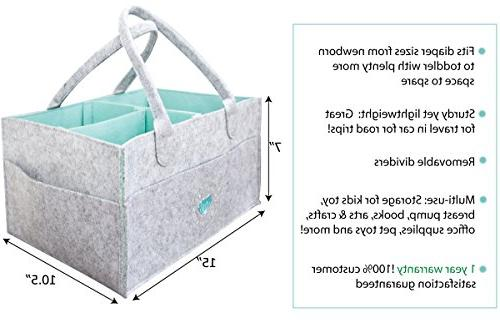 Baby - Baby Shower Basket Boys | Tote | for Changing Table Newborn Portable Travel Organizer