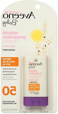 Aveeno Baby Natural Protection SPF 50 Face Stick Sunscreen