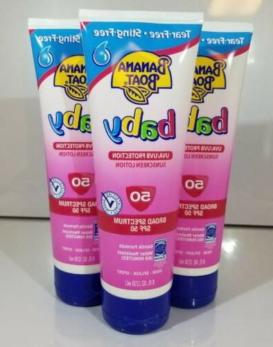 baby sunscreen lotion spf 50 8oz each