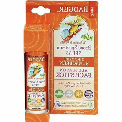 Badger Balm Kids Face Stick - 35 - Tangerine and Vanilla - 0