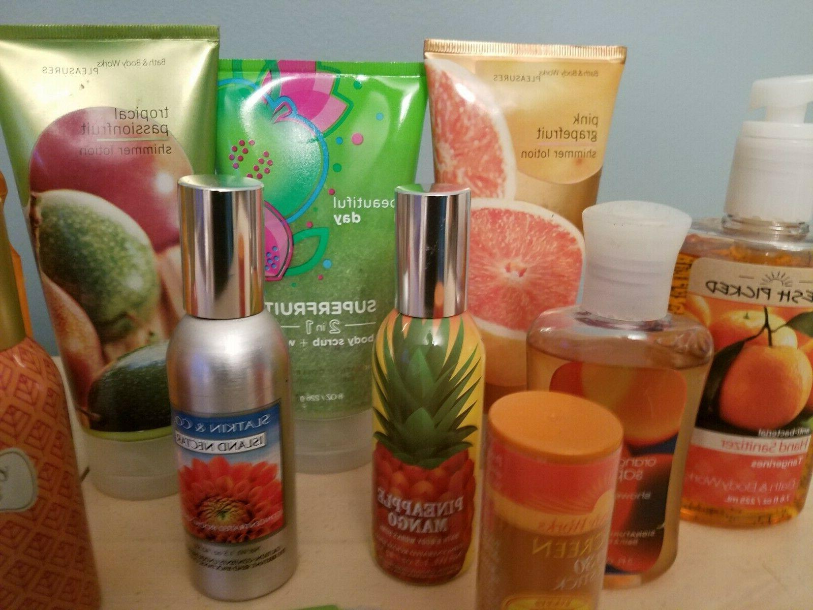 bath and body works 10 item lot