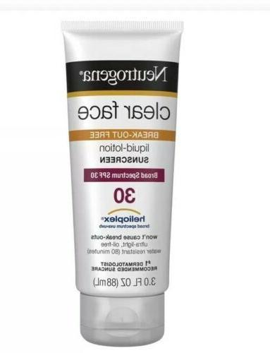 clear face 30 sunscreen lotion spf 30