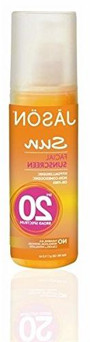 Jason Sun Facial Sunscreen SPF 20 4.50 oz