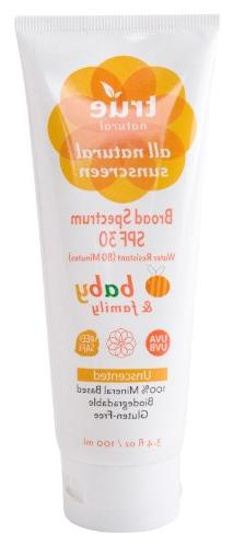 True Natural Baby & Family SPF 30 Sunscreen, Broad Spectrum,