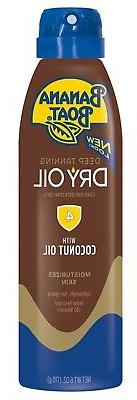 New Banana Boat Deep Tanning Dry Oil Clear Sunscreen Spray S