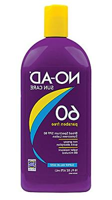 No-Ad 00224 SPF 60 Sunscreen Lotion, General Protection 16 o
