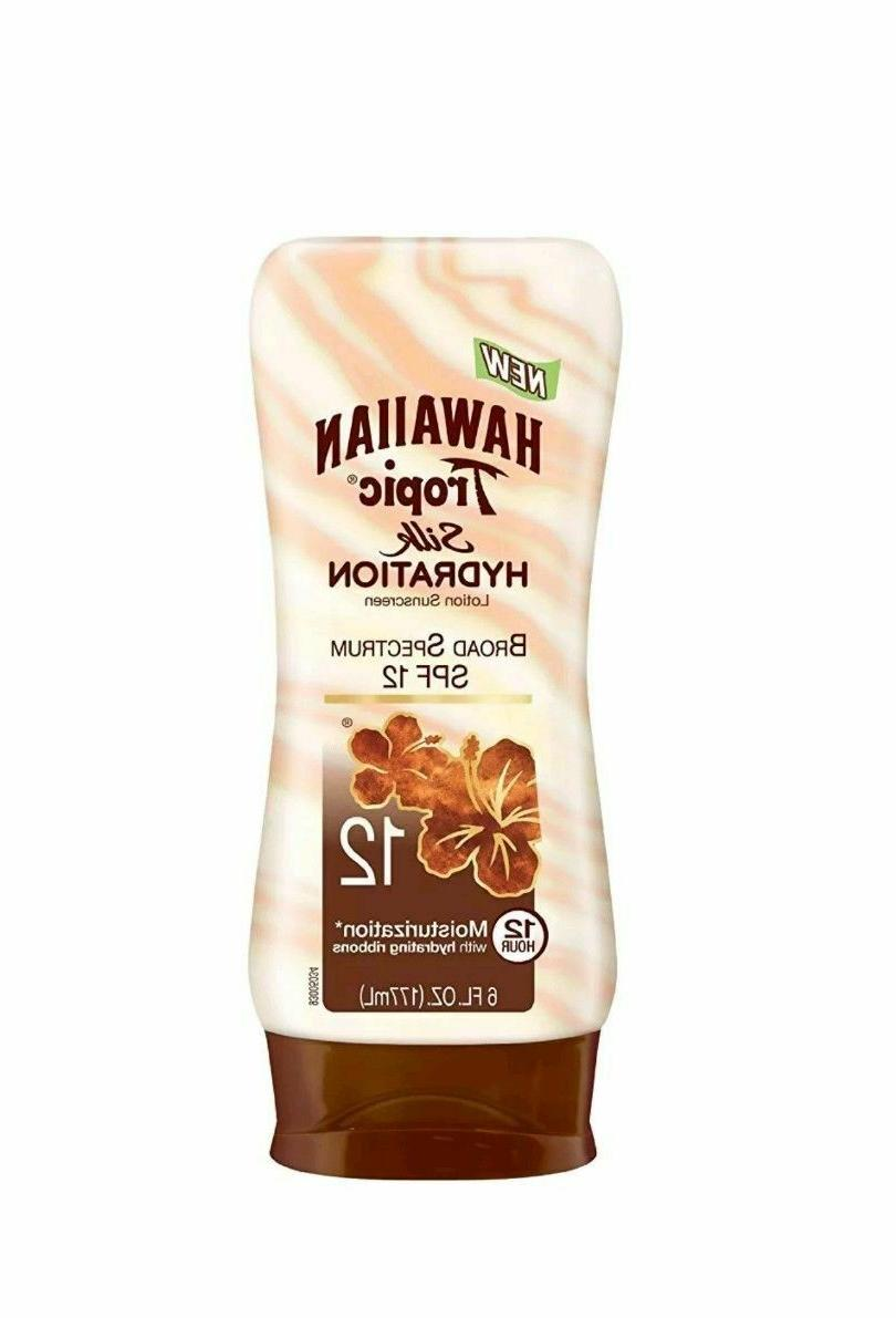 Hawaiian Tropic Silk Hydration Spf#12 Broad Spec Lotion 6oz