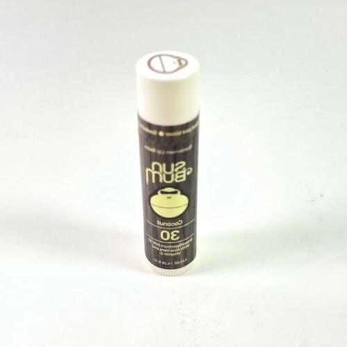 Sun Bum Coconut Sunscreen Lip Balm, SPF 30, 0.15 oz  Stick,