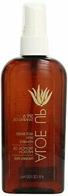 Aloe Up Sun & Skin Care Products SPF 6 Tanning Oil