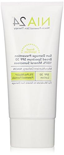 NIA24 Sun Damage Prevention 100% Mineral Sunscreen, SPF 30,