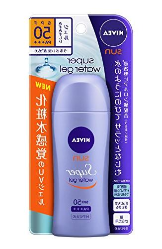 NIVEA Sun Super Water Gel 80g - SPF50 PA+++ | No Scent | Rem