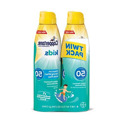 Coppertone KIDS Sunscreen Continuous Spray SPF 50 Multipack