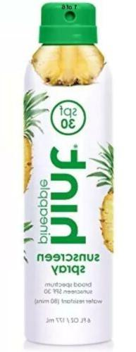 Hint Sunscreen Spray SPF 30 Full Size, 6oz Pineapple