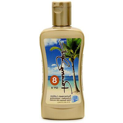 sunscreen tanning lotion spf 8 reef friendly