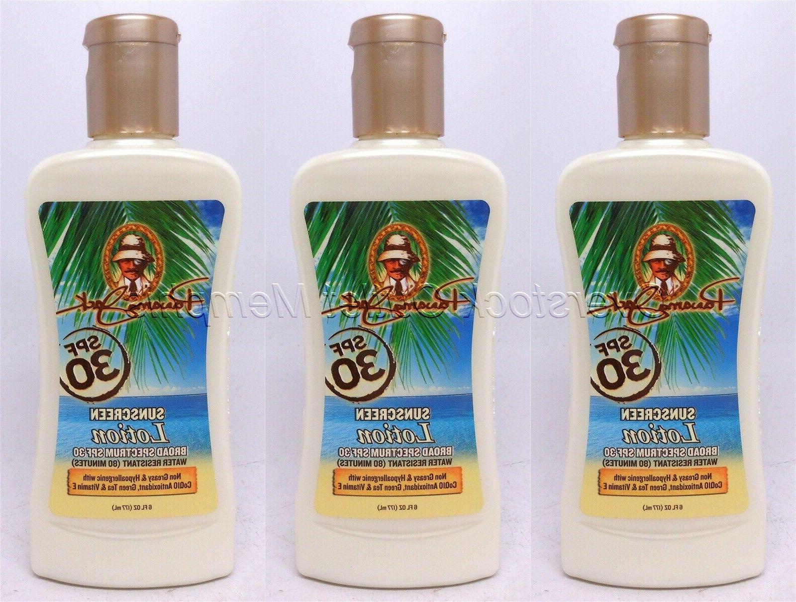 Three Panama Jack SPF30 Sunscreen Lotion Water-Resistant Hyp