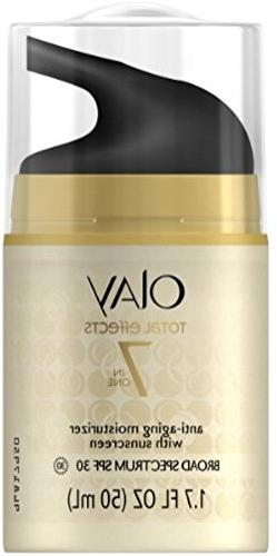 Face Moisturizer with SPF 30 by Olay Total Effects, 7 Benefi