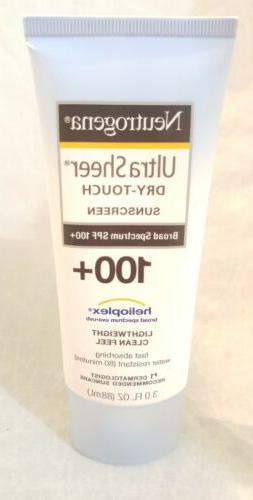 Neutrogena Ultra Sheer Dry-Touch Sunscreen SPF 100 EXP 2020/