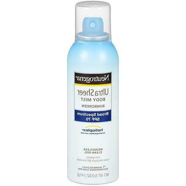 Neutrogena Ultra Sheer Body Spf30 Mist Spray 5 Ounce